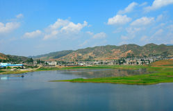 Countryside, North-Korea Royalty Free Stock Image