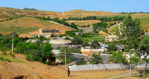 Countryside, North-Korea Stock Image
