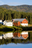 Countryside, Norway. Buildings in countryside of Norway Stock Image