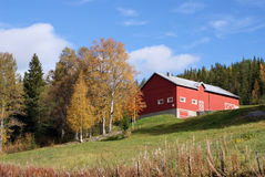 Norwegian Norway farmhouse Stock Photography