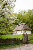 Countryside. Old traditional ukrainian house in a village. Stock Photography