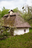 Countryside. Old traditional ukrainian house in a village. Royalty Free Stock Photo