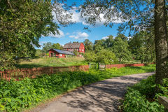 The countryside of Ostergotland in Sweden. The countryside of Ostergotland at Rodga outside Norrkoping in Sweden Stock Photos