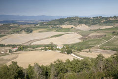 Countryside outside Montepulciano Village, Tuscany Royalty Free Stock Photos