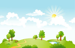 Countryside panorama in the morning Royalty Free Stock Photography