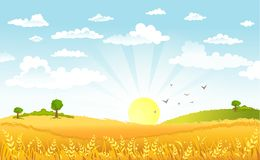 Countryside panorama in the morning Royalty Free Stock Photos