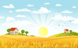 Countryside panorama in the morning Stock Photography