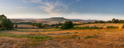 Countryside panorama of tuscan maremma near saturnia Royalty Free Stock Images