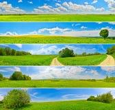 Countryside panoramas Stock Image