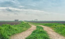Countryside path in Northern Italy Royalty Free Stock Photography