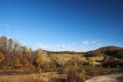 Countryside. This photo was taken in a fall morning, in a country northeast China Royalty Free Stock Image