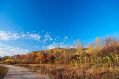 Countryside. This photo was taken in a fall morning, in a country northeast China Royalty Free Stock Photo