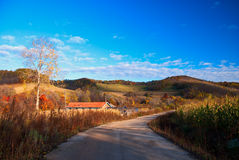Countryside. This photo was taken in a fall morning, in a country northeast China Royalty Free Stock Photos