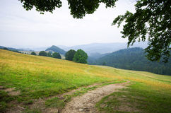 Countryside in Pieniny hills Royalty Free Stock Photo