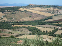 Countryside, Pienza, Tuscany, Italy. There is landscape countryside. Pienza, Tuscany, Italy Royalty Free Stock Photos