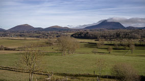Countryside and Puy de Dome Stock Images