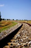 Countryside railway. Railway passing the fields in the countryside Royalty Free Stock Images