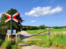 Countryside railway crossing Royalty Free Stock Photography