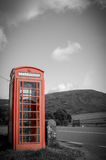 Countryside Red Phone Box Stock Image