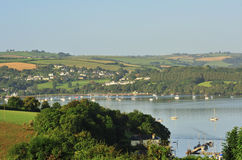 Countryside, river Dart estuary, Devon Royalty Free Stock Photography
