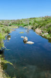 Countryside river landscape in early spring season Royalty Free Stock Photography