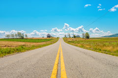 Countryside Road. (Annapolis Valley, Nova Scotia, Canada royalty free stock photos