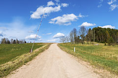Countryside road among at the early spring Stock Image