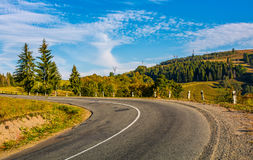 Countryside road in mountains Royalty Free Stock Images