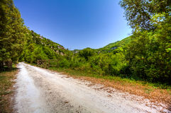 Countryside road in a park in Italy Stock Photo