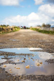 Countryside road in poor condition on the outskirts of Bahrija,. Malta Stock Photography