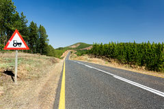 Countryside road with scenic views stock photos