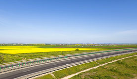 Countryside road in spring Royalty Free Stock Images