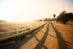 Countryside Road in a Sunny Day. Countryside Road in Thousand Oaks, California Stock Photography