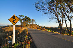 Countryside road in Thailand stock photos