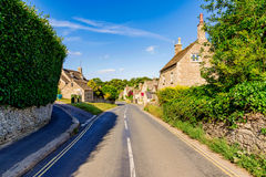 Countryside road. In the town of Bibury stock image