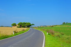 Countryside road in tuscany Stock Photos