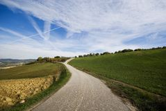 Countryside road, Umbria Royalty Free Stock Images