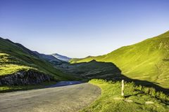 Stunning landscape of Lake District National Park,Cumbria,Uk. Countryside road with view on mountain valley in Lake District National Park,Cumbria,North West Royalty Free Stock Photography