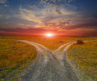 Countryside roads royalty free stock photo