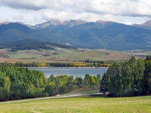 Countryside with Rohace mountains, Slovakia. Autumn view Rohace mountains (pohorie Roháče), part of Western Tatras (Západné Tatry) as seen from stock images