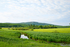 Countryside of rural Maine Stock Images