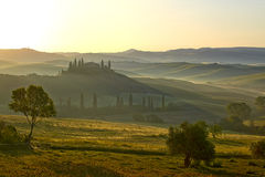 Countryside, San Quirico d`Orcia , Tuscany, Stock Photo