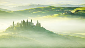 Countryside, San Quirico d´Orcia, Tuscany,. Italy Royalty Free Stock Photography
