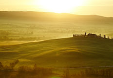 Countryside, San Quirico´Orcia , Tuscany, Royalty Free Stock Photo