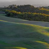 Countryside San Quirico Orcia  Tuscany Italy Stock Photography