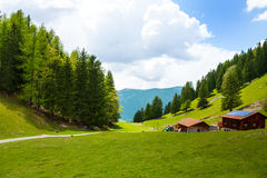 Countryside scenery near Mont Blanc, Alps Stock Photo