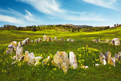 Countryside with Stones Royalty Free Stock Photos