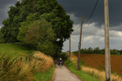 Countryside before storm royalty free stock photography