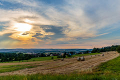 Countryside Summer Sunset Landscape Royalty Free Stock Photos