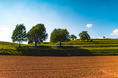 Countryside in a sunny day Royalty Free Stock Photography